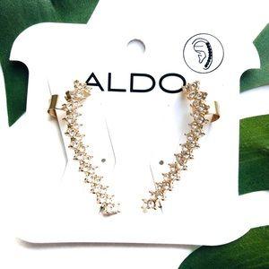 Aldo Gold Barbaiana Crawler Earrings